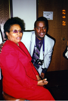 Rev. Ann McDonald, 2002 (and my son Wendal Dorsey)